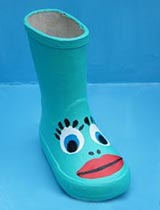 Paint a gumboot creature!