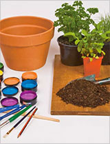 Paint some terracotta pots