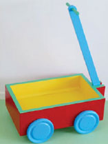 Paint an old toy cart