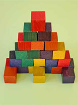 Make and paint wooden building blocks