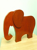 Make a wooden elephant