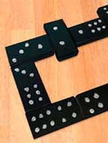 Make a set of dominoes