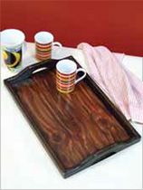 Paint a wooden tray