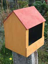 Paint a wooden bird feeder