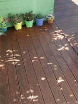 Stain a old wooden deck