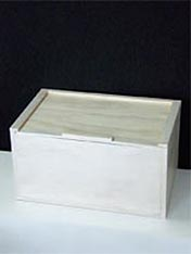 Make a white wooden box and painted finish