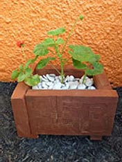 Make a rustic planter