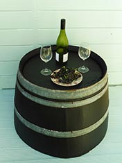 Turn an old wine barrel into a funky table