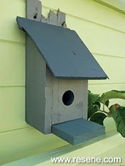 Build a wooden birdhouse