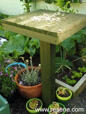 Build a feeding table for your birds