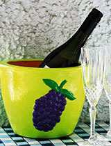 Make a painted wine cooler