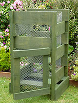 Make a raised compost bin