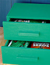 Green seed drawers