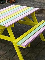 Paint a picnic table