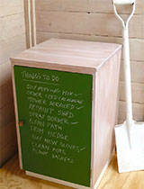 How to create a blackboard cupboard