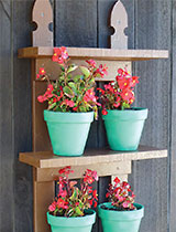 Make an outdoor shelf for your plants