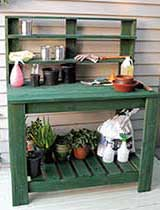 Make a wooden potting bench