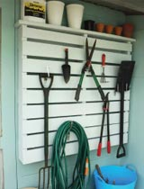 How to make a reclaimed storage rack