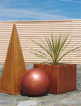 How to make metallic effect planters