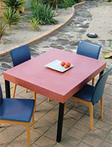 How to create an outdoor table