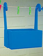 Make a hanging peg box