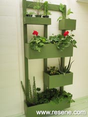 Build a vertical garden.