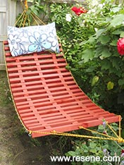 Make a wooden hammock