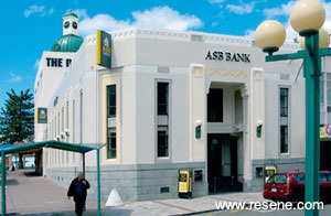 Resene Products in Action - the art deco ASB Bank Napier