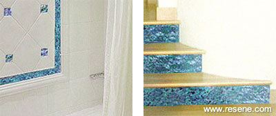 Resene Products in Action - Paua Shell Ceramic Tiles