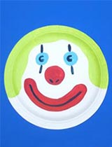 Paint a clown face