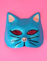 Paint a cool cat mask