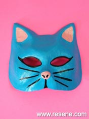 Cool cat mask to paint