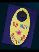 How to make a do not disturb door sign