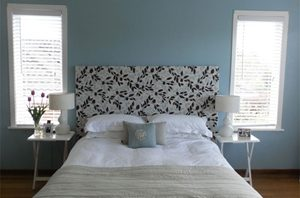 A subtle blue can add colour to a room while maintaining a sleek and clean feel.