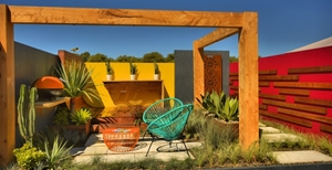 Resene Geronimo makes this outdoor space come alive.