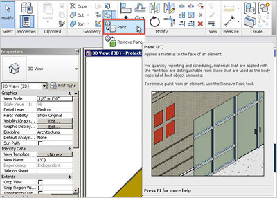 How To Apply Paint On Walls In Revit