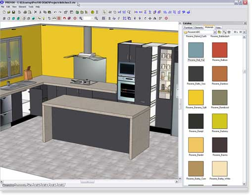 Design2cam design software and resene paint swatches for Industrial kitchen design software