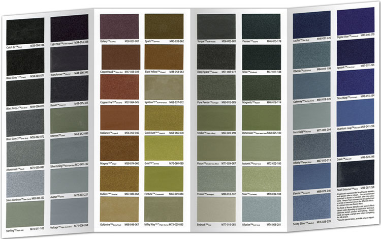 The new resene metallics and special effects chart - Exterior metal paint colours decor ...