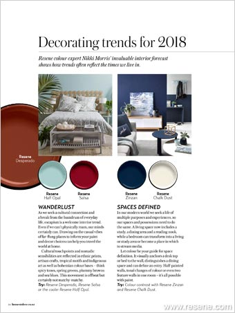 Decorating trends for 2018