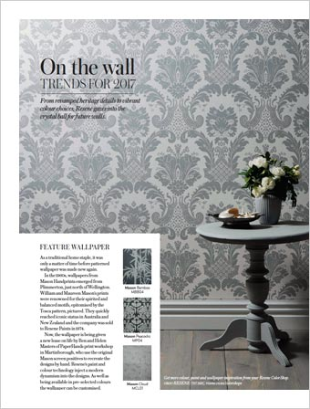 ... On the wall – trends for 2017. From revamped heritage details to vibrant colour choices, see the future of walls… more