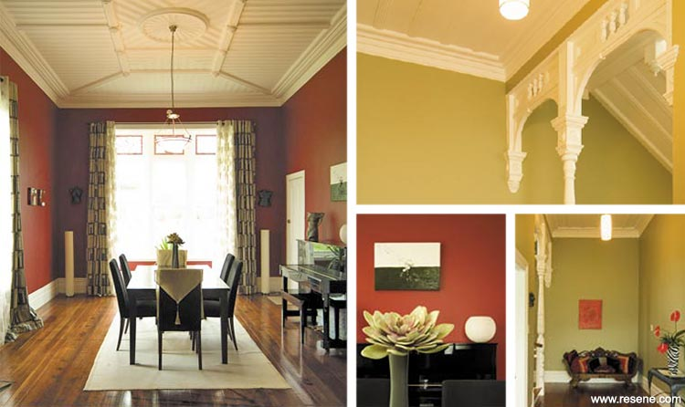 A blast of red - red walls in a villa dining room | July Finalist ...