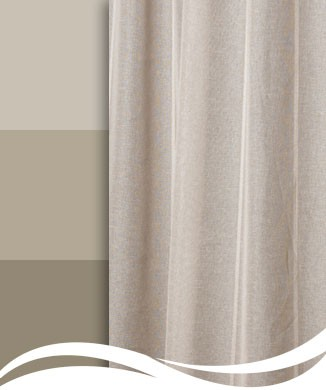 Harmony Voile Curtains Earthy Linen Look Voile Resene