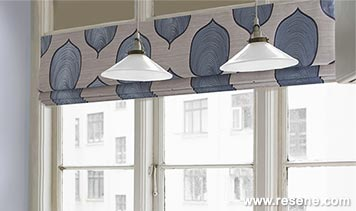 Roman blinds from Resene