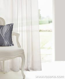 Resene Meander Voile curtains