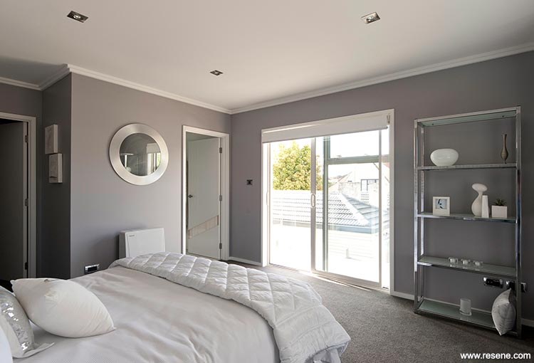 Yellow And Light Grey Bedroom