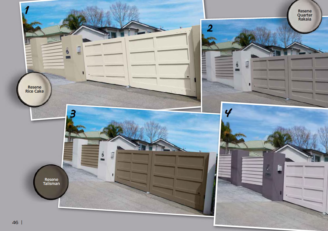 Two toned fence and gate