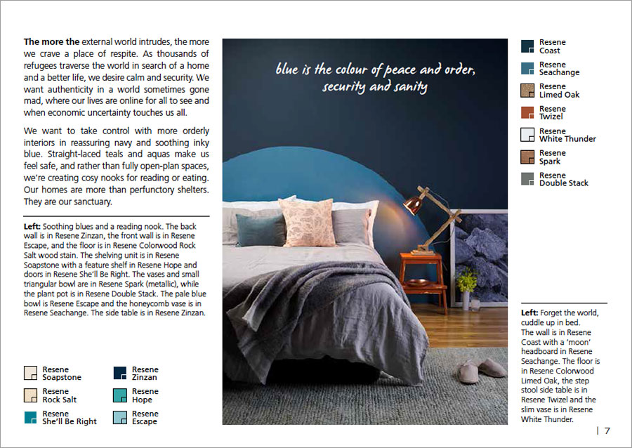 Blue is the colour of security | Resene Habitat plus Magazine