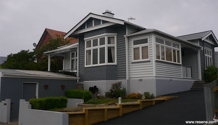 Exterior Repaint With Bold Colours Of Resene Iron With