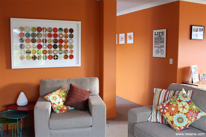 Orange Walls uplifting orange walls