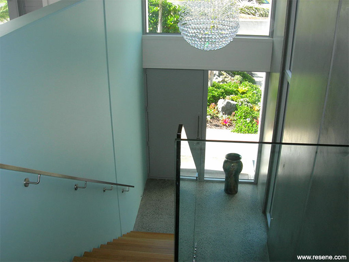 A House Of Concrete Tilt Panel Construction Is Softened With Colour